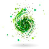 Green waves background vector Stock Photos
