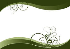 Green waves with green natural motives Stock Photos