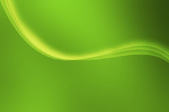 Green Waves  Illustration Royalty Free Stock Photography