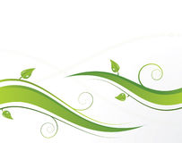 Green waves with leaves Royalty Free Stock Photos