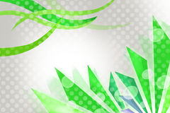 Green waves and lines , abstract background Stock Photo
