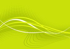 Green wavy abstract background Stock Photos