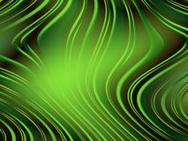 Green wavy abstract background Royalty Free Stock Photography