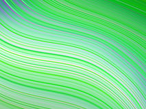 Green wavy abstract background Royalty Free Stock Image