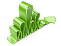 Green wavy arrow Stock Photography