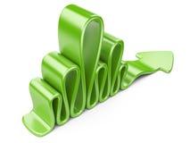 Green wavy arrow Stock Photography