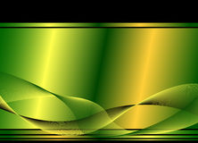 Green wavy background Royalty Free Stock Photos