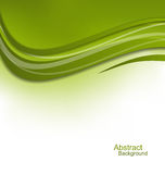 Green Wavy Background, Design Template Stock Photo