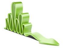 Green wavy concept arrow Royalty Free Stock Image