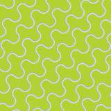 Green wavy geometric lines meshed pattern. Royalty Free Stock Photography