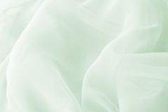 Green wavy textile Stock Photography
