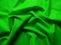 Green wavy textile Royalty Free Stock Images