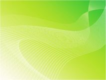 Green wavy vector background Royalty Free Stock Photos
