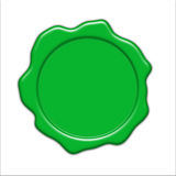 Green wax seal Royalty Free Stock Photos