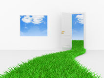 Green way Royalty Free Stock Photo