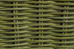 Green weave, natural texture, basket and mat.  Stock Image
