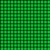 Green Weave Pattern. A background pattern made of green weaved strips stock photos