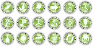 Green web button  or icon Stock Images
