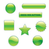 Green web buttons. Collection of green buttons for web Stock Photo