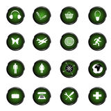 Green web buttons Stock Images
