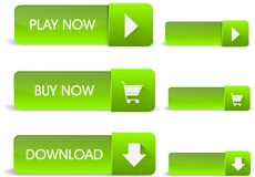 Green web buttons vector illustration