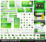 Green Web design elements extreme collection Royalty Free Stock Image