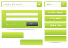 Green web design elements Stock Photography