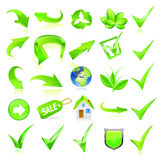 Green Web Elements Set. Stock Images