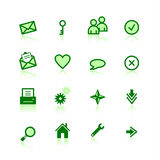 Green web icons Royalty Free Stock Images