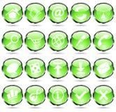 Green web icons Stock Photos
