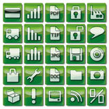 Green web icons 26-50 Royalty Free Stock Photography