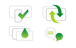 Green Web Icons Stock Images