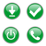 Green web icons. The green web icons for your syte Stock Image