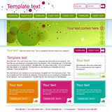 Green web page design. Minimalistic green web page layout design Royalty Free Stock Photo