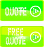 Green web sign free  quote Stock Image