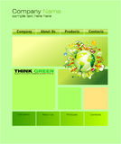 Green Web Site Template Royalty Free Stock Images