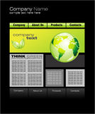 Green Web Site Template Stock Image