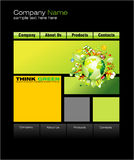 Green Web Site Template Stock Photo