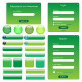 Green Web Template Stock Photography