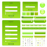 Green Web Template Royalty Free Stock Photography