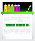 Green web template Royalty Free Stock Photo