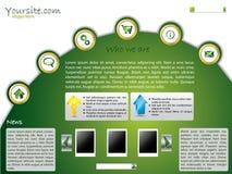 Green web template design Royalty Free Stock Photos