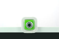 A green webcam. Royalty Free Stock Photo