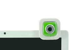 A green webcam. Royalty Free Stock Photos