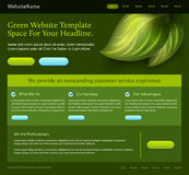 Green website template Stock Image