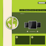 Green website template design Stock Image