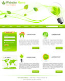 Green website templates Royalty Free Stock Image