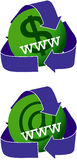 Green Websites Icons Royalty Free Stock Photography