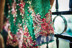 Green Wedding Gown Royalty Free Stock Photos