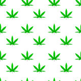 Green weed cannabis leaf pattern vector Stock Image